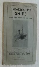 Speaking Of Ships Pictures & Descriptions Of Largest Liners Sailing From N.Y. 33