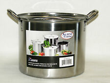 Stainless Steel Stock Pot 8 QT Quart 2 Gallon Soup Chili Pasta Beer Brew NOTE*