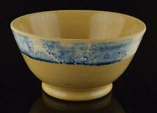 1800'S YELLOW WARE MOCHA WARE BOWL-MOCHAWARE DENTRICAL DESIGN YELLOW WARE BOWL