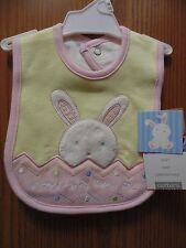 "Carter's one size Bib ""Somebunny loves me"" Girls 100% Cotton"