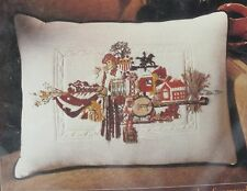 "Crewel Embroidery Kit Needle Magic ""Interior Legacy of America"" Pillow VINTAGE"