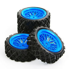 1/10 Scale RC Rally Racing Off Road Car Rubber Tyre & Wheel Set(4pcs)PP0487+BBB