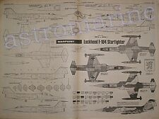 F-104 STARFIGHTER - Warpaint 1.72 Scale Drawings Aviation News February 1981