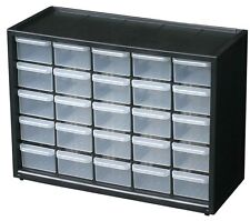 Storage Organizer Cabinet 25 Plastic Drawer Boxes Parts Container Bin Toy Garage