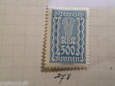AUTRICHE AUSTRIA, 1922, timbre 278, ARMOIRIES, neuf*, OSTERREICH VF MH STAMP