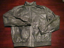 Vtg Mens Summit Leather Gray Fight Club Motorcycle Biker Rocker Jacket Coat 38