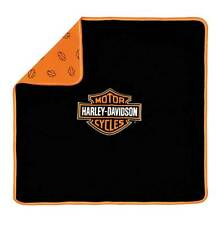 Harley-Davidson Baby Boys' Bar & Shield Receiving Blanket, Black/Orange 0150096