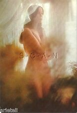 Original 1960s Italian Nude Pinup PC- Artistic- Blond Woman Stands in Bedroom
