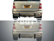 BGT 98-05 BENZ ML-CLASS W163 REAR DOUBLE TUBE UNDER DESIGN BUMPER PROTECTOR S/S