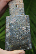 Archaic Chinese Jade Fish Ritual Axe Amulet with English Translation, 3000 BC