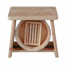 Hoshino Japan Bath Stool HINOKI Cypress Wood Chair Height 28cm Oke Tub Set NEW