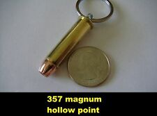 REAL BULLET KEYCHAIN 357 MAGNUM HOLLOW POINT
