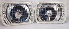 86-95 JEEP WRANGLER YJ  CHROME GLASS HEAD LIGHTS LED HEADLIGHTS H4