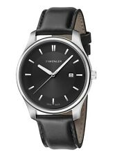 *BRAND NEW* Wenger Men's Analog Black Dial Quartz Leather Watch 01.1441.101