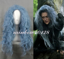"26"" Blue Grey Movie Into the Woods Witch Wavy Long Anime Cosplay Wig"