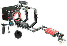 FILMCITY DSLR Camera Cage Shoulder Rig Kit (FC-03) + Matte Box + F-focus HS-2