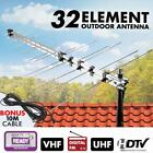 32 Element Outdoor Aerial TV Antenna TV UHF VHF HD Digital FM Analogue 10m Cable