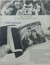 PUBLICITE POLAROID APPAREIL PHOTO SWINGER 15 SEC DE 1968 FRENCH AD PUB VINTAGE