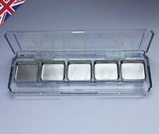 Empty Plastic Transparent Eye shadow palette case 5 square pans