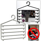 2 HANGING PLASTIC TROUSER SKIRT PANTS HANGERS CLOTHES WARDROBE CLOSET ORGANISER