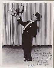 VAUDEVILLE Juggler & Magican RALPH ENGLISH SIGNED PHOTO; Performed on Ice skates