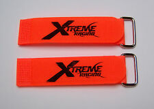 """XTREME RACING 1""""X8"""" ORANGE BATTERY STRAPS (2) XTR2203 LIPO 1/8 HELICOPTER BUGGY"""