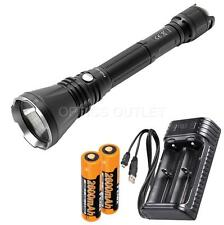 Fenix TK47 1300 Lumen 766 Yard Neutral White LED Flashlight w/ 2x 18650, Charger