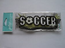 EK SUCCESS JOLEE'S TITLE WAVES SOCCER BLACK & WHITE DIMENSIONAL STICKERS BNIP