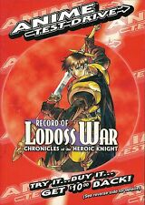 Anime Test Drive: Record of Lodoss War Chronicles of the Heroic Knight ~ New DVD