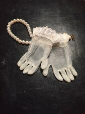 ~ Old Store Stock 1950's Madame Alexander Sea Mist Green Cissy Gloves ~