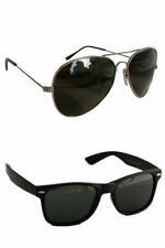 Men's Sunglasses Black wayfarer and Black Aviator (UV400) Combo Free Shipping