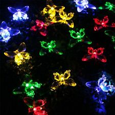 40 LED Butterfly Multi-Color Solar String Lights For Wedding Party Outdoor Light