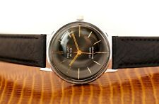 Vintage Black Poljot de luxe Flight USSR Russian Soviet Men's Watch strap band