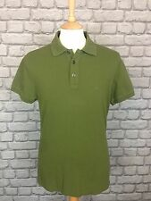 ARMANI JEANS MENS UK M GREEN MUSCLE POLO TOP RRP £70.00
