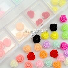 60PCS Rose Flower Design 3D Nail Art Decorations Tool nail supplies accessories