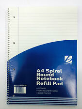A4 160 Sheets Spiral Notebook Refill Pad Hole Punched Ruled Lined Writing Office