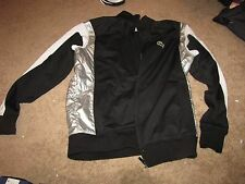 NEW NWOT *LACOSTE SPORT* Black/White/Silver Jacket 8 XL