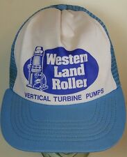 Vtg 1980s WESTERN LAND ROLLER VERTICAL TURBINE PUMP Advertising SNAPBACK HAT M/L