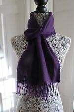 Classic Yves Saint Laurent Wool Scarf – Purple – NWT - $225