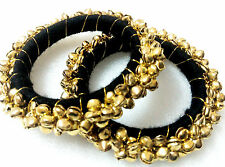 "Glittering World Designer Bangle & Ghungroo Kada in Black 2.6"" & 2.8"" Sizes"