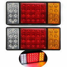 TRUCK Trailer Tail Light Stop Rear Turn Indicator Reverse Lamp Waterproof LED X2