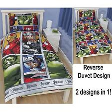 AVENGERS 'TEAM' DUVET COVER OFFICIAL HULK IRON MAN CAPTAIN AMERICA MARVEL NEW