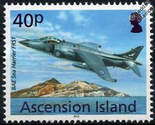 Royal Navy BAE SEA HARRIER FRS1 Aircraft Stamp (2013 Ascension Island)