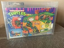 Vintage Playmates 1989 Teenage Mutant Ninja Turtles Party Wagon AFA 75 -TMNT-