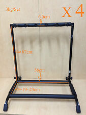 Four(x4) Haze GS014 Metal Structure 5-Guitar-Stand/Storage&Display Rack,Foldable