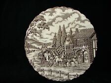 Vintage Staffordshire Royal Mail China Salad Plate - Horse and Coach Design