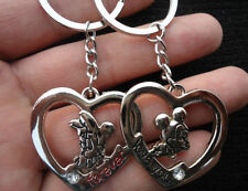 hot lover lovers keychain couple key ring keyring Mickey Minnie Mouse & heart