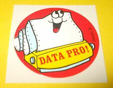 Vtg 80s TREND Scratch n Sniff Glossy Sticker~DATA PRO!~Computer Paper Printer