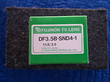NEW FUJINON DF3.5B-SND4-1 CCTV LENS 1:1.8/3.5  MADE BY FUJI