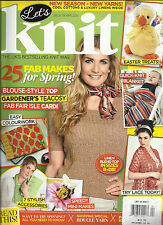 LET'S KNIT,  APRIL, 2014   ISSUE 78  ( THE UK'S BEST SELLING KNIT  MAGAZINE
